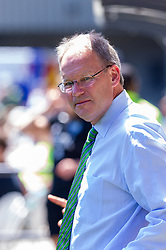 May 13, 2018 - Portland, OR, U.S. - PORTLAND, OR - MAY 13: Seattle Sounders head coach Brian Schmetzer moments before the Portland Timbers  1-0 victory over the Seattle Sounders on May 13, 2018, at Providence Park in Portland, OR. (Photo by Diego Diaz/Icon Sportswire) (Credit Image: © Diego Diaz/Icon SMI via ZUMA Press)
