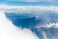 Aerial view of mountainous landscapes nearby Hanoi, Vietnam, Southeast Asia