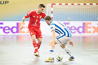 Benfica's Bruno Coelho and Pescara's Grello during UEFA Futsal Cup 2015/2016 3º/4º place match. April 22,2016. (ALTERPHOTOS/Acero)