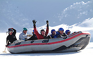 extreme winter rafting at Utah Olympic Park, Park City, Utah