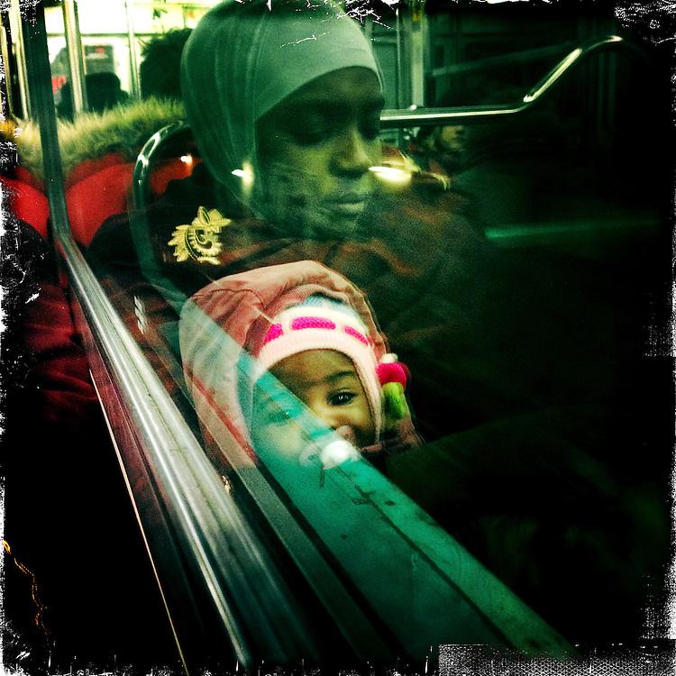 Paris, France. January 19th 2012.In the parisian subway