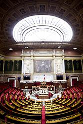 June 27, 2017 - Paris, France, France - illustration de l Hemicycle de l assemblee Nationale Vide (Credit Image: © Panoramic via ZUMA Press)