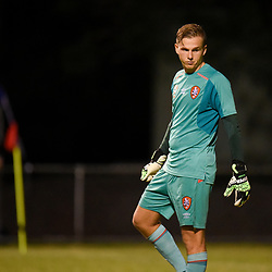 BRISBANE, AUSTRALIA - FEBRUARY 10: Macklin Freke of the Roar looks on during the NPL Queensland Senior Mens Round 2 match between Gold Coast United and Brisbane Roar Youth at Station Reserve on February 10, 2018 in Brisbane, Australia. (Photo by Football Click / Patrick Kearney)