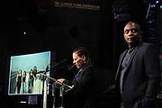 NEW YORK, NEW YORK-JUNE 4: (L-R) Artist/Archivist Guadalupe Rosales (Fellow) and Conceptual Artist Hank Willis Thomas (Honoree) attend the Gordon Parks Foundation Awards Dinner & Auction celebrating social justice held at Cipriani 42nd Street on June 4, 2019 in New York City. (Photo by Terrence Jennings/terrencejennings.com)