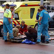 Ongeval Ceintuurbaan - Nieuw Bussummerweg Huizen, fietser onder vrachtwagen