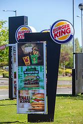 Burger King GV at Springkerse Retail Park. Stirling area lockdown 6/5/2020.