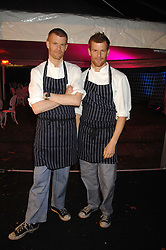 Left to right, brothers ROBERT AIKENS and TOM AIKENS at the Berkeley Square End of Summer Ball in aid of the Prince's Trust held in Berkeley Square, London on 27th September 2007.<br /><br />NON EXCLUSIVE - WORLD RIGHTS