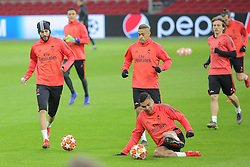 February 12, 2019 - Amsterdam, Netherlands - Real Madrid CF Squad pictured during a training before UEFA Champions League match playoff 1/8 finals game between Ajax Amsterdam and Real Madrid at Johan Cruyff Arena on February 12, 2019 in Amsterdam, Netherlands. (Credit Image: © Federico Guerra Moran/NurPhoto via ZUMA Press)