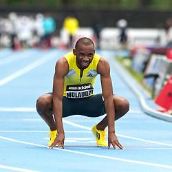 adidas Grand Prix Diamond League professional track & field meet: mens 800 meters, Mbulaeni MULAUDZI, South Africa