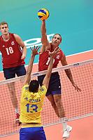 Averill Taylor USA, Souza Mauricio BRA.<br /> Torino 28-09-2018 Pala Alpitour <br /> FIVB Volleyball Men's World Championship <br /> Pallavolo Campionati del Mondo Uomini <br /> Third round<br /> Brasile - Usa / Brazil - USA<br /> Foto Antonietta Baldassarre / Insidefoto