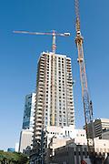 Israel, Tel Aviv, Modern skyscraper construction