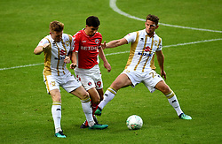 Charlton Athletic's Albie Morgan (centre) in action