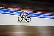 Jasper de Buyst tijdens een koppelkoers. In Amsterdam vindt de Zesdaagse van Amsterdam plaats, een groots wielerevenement in het velodrome.<br /> <br /> Jasper de Buyst at he Six Days of Amsterdam, a major cycling event in the velodrome.