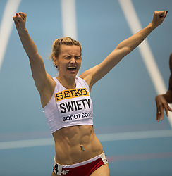 07.03.2014, Ergo Arena, Sopot, POL, IAAF, Leichtathletik Indoor WM, Sopot 2014, Tag 1, im Bild JUSTYNA SWIETY // JUSTYNA SWIETY during day one of IAAF World Indoor Championships Sopot 2014 at the Ergo Arena in Sopot, Poland on 2014/03/07. EXPA Pictures © 2014, PhotoCredit: EXPA/ Newspix/ Marek Biczyk<br /> <br /> *****ATTENTION - for AUT, SLO, CRO, SRB, BIH, MAZ, TUR, SUI, SWE only*****