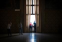Visitors in the Doge's Palace, San Marco, Venice, Italy.<br /> Photo: Ed Maynard<br /> 07976 239803<br /> www.edmaynard.com