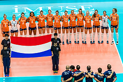 19-10-2018 JPN: Semi Final World Championship Volleyball Women day 18, Yokohama<br /> Serbia - Netherlands / Team Netherlands