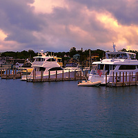 """Charlevoix City Boat Marina""<br /> <br /> Beautiful skies over Charlevoix City Marina!"