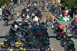 Main Street during the 75th Annual Sturgis Black Hills Motorcycle Rally.  SD, USA.  August 1, 2015.  Photography ©2015 Michael Lichter.