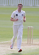 Will Williams of Canterbury celebrates the wicket of Doug Bracewell of CD. Canterbury vs. Central Districts Day 1, 1st round of the 2021-2022 Plunket Shield cricket competition at Hagley Oval, Christchurch, on Saturday 23rd October 2021.<br /> © Copyright Photo: Martin Hunter/ www.photosport.nz