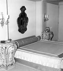 Interior shots of Aristotle Onassis's yacht Christina photographed in 1956.<br /> Picture shows Mr Onassis' bedroom<br /> <br /> <br /> NON EXCLUSIVE - WORLD RIGHTS