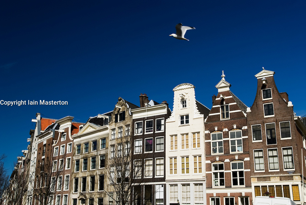 Beautiful old houses in central Amsterdam