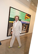 MIKE FIGGIS, David Salle private view at the Maureen Paley Gallery. 21 Herlad St. London. E2. <br /> <br />  , -DO NOT ARCHIVE-© Copyright Photograph by Dafydd Jones. 248 Clapham Rd. London SW9 0PZ. Tel 0207 820 0771. www.dafjones.com.