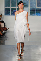 A model walks the runway wearing Zero Maria Cornejo Spring 2015 during Mecedes-Benz Fashion Week in New York on September 8th, 2014