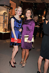 Left to right, ISABELLA MACPHERSON and ELLA KRASNER at a dinner hosted by Asprey for The Woodland Trust in support of the Jubilee Woods Project, held at Asprey, 167 New Bond Street, London on 22nd November 2012.