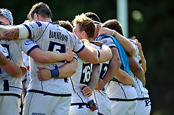 The Bristol squad huddle together after the match - Photo mandatory by-line: Patrick Khachfe/JMP - Mobile: 07966 386802 17/08/2014 - SPORT - RUGBY UNION - Bristol - Clifton Rugby Club - Bristol Rugby v Newport Gwent Dragons - Pre-Season Friendly
