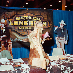 Houston, Texas - March 2010- The Butler Longhorn Museum booth at the Houston Rodeo marketplace..Photo by Susana Raab