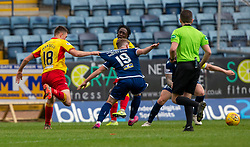 Partick Thistle's Lewis Mansell and Dundee's Finlay Robertson. Dundee 1 v 3 Partick Thistle, Scottish Championship game player 19/10/2019 at Dundee stadium Dens Park.