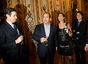 Herve Martin; Russell Sternlicht; Mrs. Russell Sternlicht; Max Sternlicht<br />  Drinks the evening before the The 2008 Crillon Debutante Ball. Baccarat. Place des Etats-Unis.  Paris. 29 November 2008. *** Local Caption *** -DO NOT ARCHIVE-© Copyright Photograph by Dafydd Jones. 248 Clapham Rd. London SW9 0PZ. Tel 0207 820 0771. www.dafjones.com.