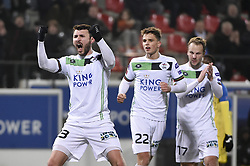 February 17, 2018 - Leuven, BELGIUM - OHL's Jovan Kostovski, celebartes, after scoring and during a soccer game between OH Leuven and KFCO Beerschot Wilrijk, in Heverlee, Leuven, Saturday 17 February 2018, on day 27 of the division 1B Proximus League competition of the Belgian soccer championship. BELGA PHOTO BRUNO FAHY (Credit Image: © Bruno Fahy/Belga via ZUMA Press)