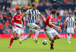 Craig Dawson of West Bromwich Albion in action - Rogan Thomson/JMP - 28/08/2016 - FOOTBALL - The Hawthornes - West Bromwich, England - West Bromwich Albion v Middlesbrough - Premier League.