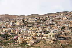 View of housing in town of Wadi Musa ( Petra) in Jordan, Middle East