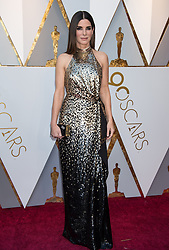 March 4, 2018 - Hollywood, CA, U.S. - 04 March 2018 - Hollywood, California - Sandra Bullock. 90th Annual Academy Awards presented by the Academy of Motion Picture Arts and Sciences held at Hollywood & Highland Center. Photo Credit: A.M.P.A.S./AdMedia (Credit Image: © A.M.P.A.S/AdMedia via ZUMA Wire)