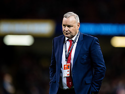 Head Coach Wayne Pivac of Wales during the pre match warm up<br /> <br /> Photographer Simon King/Replay Images<br /> <br /> Six Nations Round 1 - Wales v Italy - Saturday 1st February 2020 - Principality Stadium - Cardiff<br /> <br /> World Copyright © Replay Images . All rights reserved. info@replayimages.co.uk - http://replayimages.co.uk