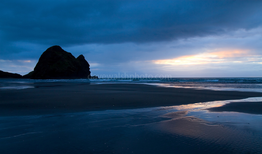 South Piha beach, New Zealand, famed surfing beach, and all-round scenic area, within one hour of Auckland.