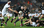 Kieran Read of the All Blacks in action during the third rugby test between the All Blacks and England played at Waikato Stadium in Hamilton during the Steinlager Series - All Blacks v England, Hamiton, 21 June 2014<br />