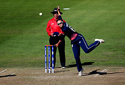 Alex Hartley of England Women bowls - Mandatory by-line: Robbie Stephenson/JMP - 05/07/2017 - CRICKET - County Ground - Bristol, United Kingdom - England Women v South Africa Women - ICC Women's World Cup Group Stage