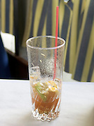 almost empty Bloody Mary cocktail
