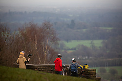© Licensed to London News Pictures. 21/12/2020. Surrey, UK. A gloomy start to the day for walkers, cyclists and sightseers on Box Hill in Surrey on the shortest day of the year as weather experts predict a wet and dull build up to Christmas. Last week Prime Minister Boris Johnson put London and parts of the South East including Surrey into Tier 4 after a new Covid-19 mutation was discovered. Photo credit: Alex Lentati/LNP