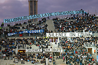 FOOTBALL - FRENCH CHAMPIONSHIP 2011/2012 - L1 - OLYMPIQUE MARSEILLE v AC AJACCIO  - 22/10/2011 - PHOTO PHILIPPE LAURENSON / DPPI - OM FANS BANNER