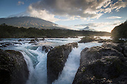 Petrohue falls in Vicente Perez Rosales National Park, Chile