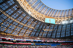 July 11, 2018 - Moscow, Russia - 180711 Interior view of the Luzhniki Stadium prior to the FIFA World Cup semi final match between Croatia and England on July 11, 2018 in Moscow..Photo: Petter Arvidson / BILDBYRÃ…N / kod PA / 92085 (Credit Image: © Petter Arvidson/Bildbyran via ZUMA Press)