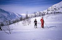 Two girls enjoying their Easter vacation skiing