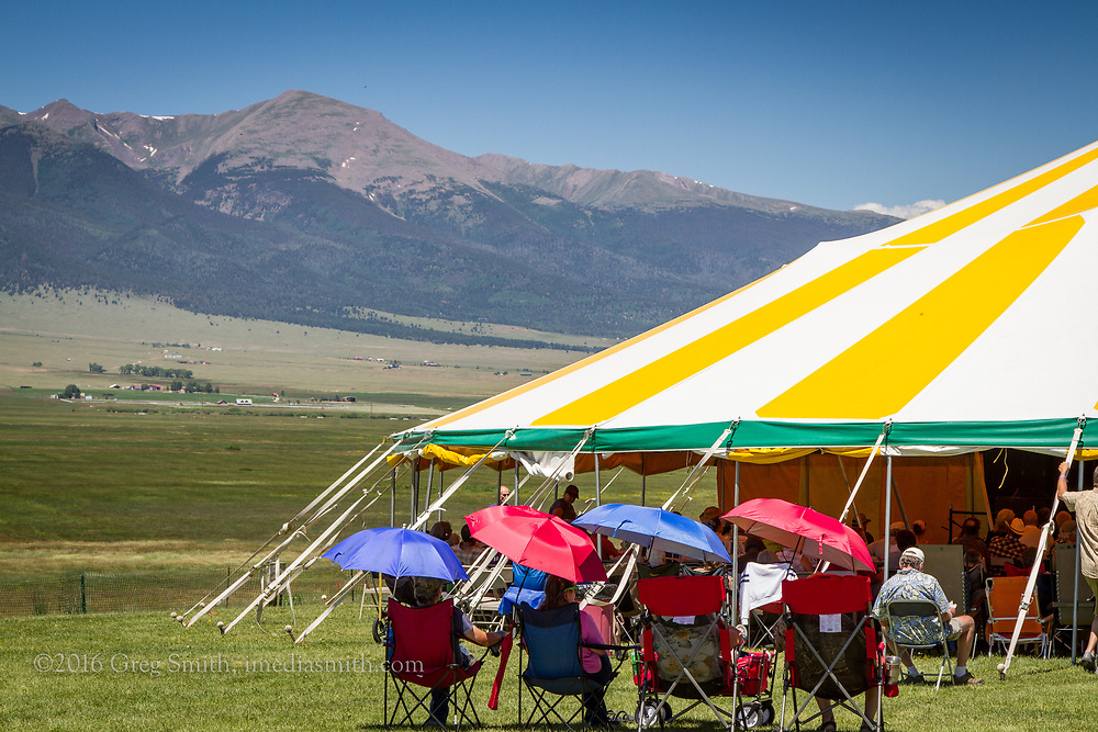 The High Mountain Hay Fever bluegrass music festival takes over the The Bluff Park at the end of the Westcliffe's Main Street.