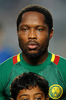 Football Fifa Brazil 2014 World Cup Matchs-Qualifier / Africa - Play-Off / <br /> Tunisia vs Cameroon 0-0  ( Olympic Stadium of Rades , Tunis-Rades , Tunisia ) <br /> Jean MAKOUN II of Cameroon , during the match between Tunisia and Cameroon