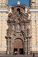 Wooden door of San Francisco church