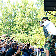 Columbia, MD - August 30th, 2010:  Pittsburgh-based rapper Wiz Khalifa performed on the Paid Dues stage while the crowd waited for Lauren Hill to decide if she would perform or not. (Photo by Kyle Gustafson/For The Washington Post)